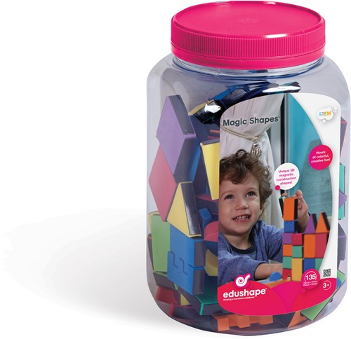 Edushape Magic Shapes -135 pcs (Jar)