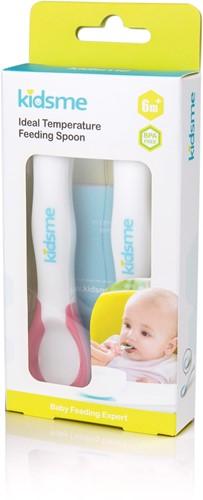 KidsMe Ideal Temperature Feeding Spoon(2pcs) - Lavender                                                           Blister card
