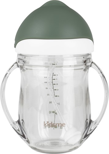 KidsMe Tritan Training Cup with Weighted Straw-Gray
