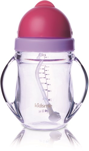 KidsMe Tritan Training Cup with Weighted Straw-Lavender