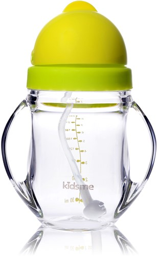 KidsMe Tritan Training Cup with Weighted Straw-Lime