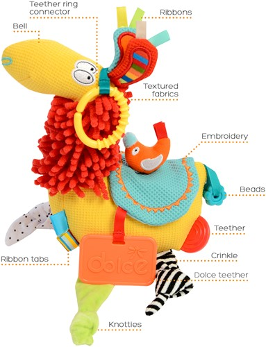 Dolce Toys Activiteiten Lama
