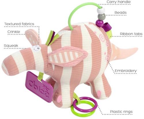 Dolce Toys pastel Baby Aardvark
