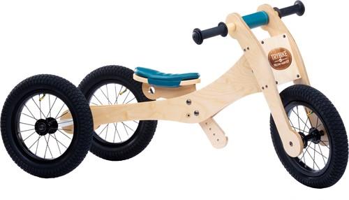 Trybike houten loopfiets 4-in-1 Blauw