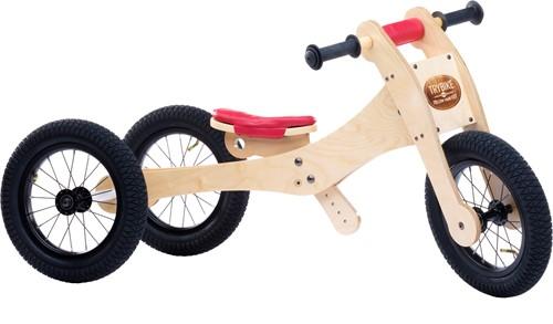 Trybike houten loopfiets 4-in-1 Rood