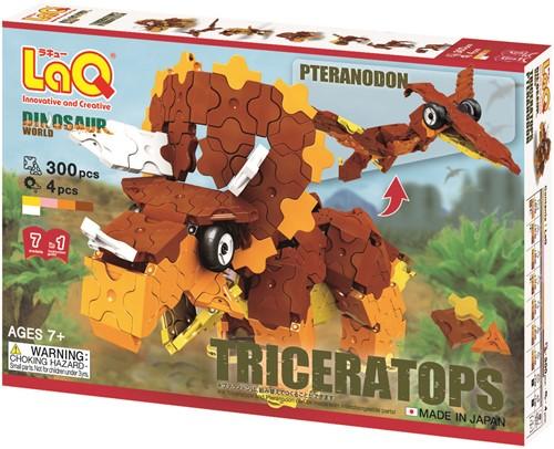 LaQ Dinosaur World Triceratops and Pteranodon