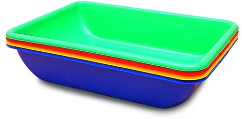 Edushape Water- en Zandkuipen - 4 stuks in set - kleuren assorti