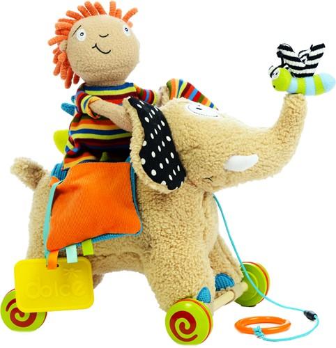 Dolce Toys trekfiguur en knuffel Olifant