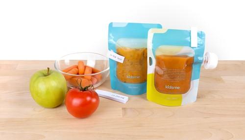 KidsMe Reusable Food Pouch (4 PCS)(6oz/180ml)Pattern Pouchx4
