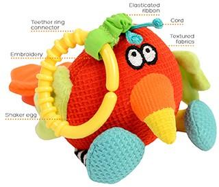 Dolce Toys Shaker Parrot